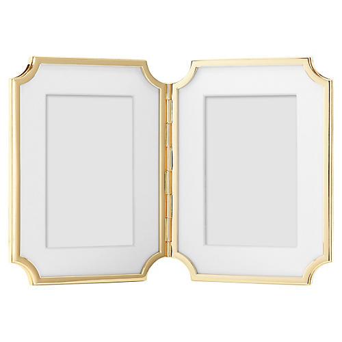 4x6 Sullivan Street Double Frame, Gold