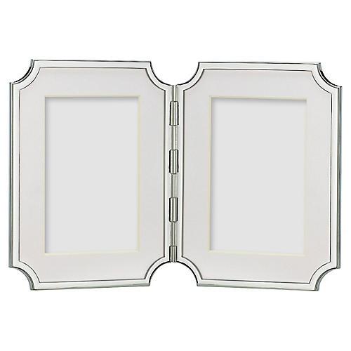 4x6 Sullivan Street Double Frame, Silver