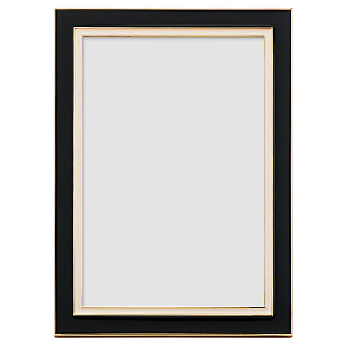 Portland Place Picture Frame, Black/Cream