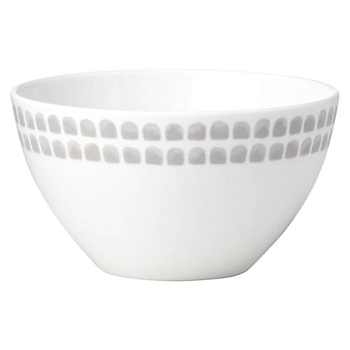 Charlotte Street North Soup Bowl, White/Gray