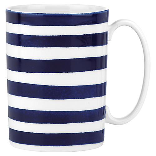Charlotte Street North Mug, White/Blue