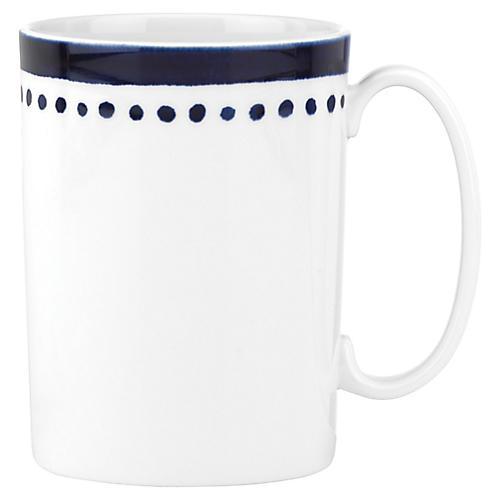 Charlotte Street East Mug, White/Blue