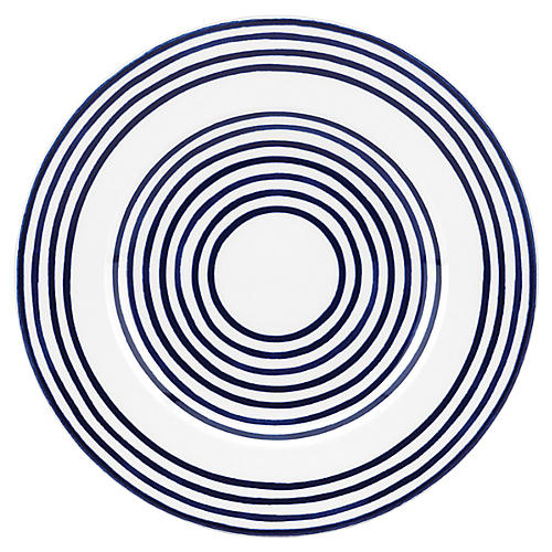 Charlotte Street West Salad Plate, White/Blue