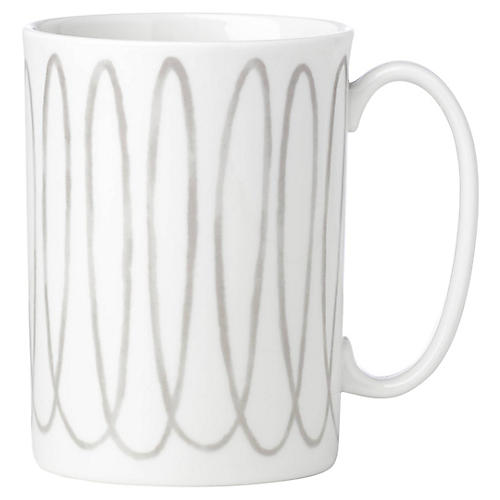 Charlotte Street West Mug, White/Gray