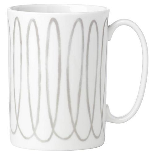 Charlotte Street West Mug, White/Gray