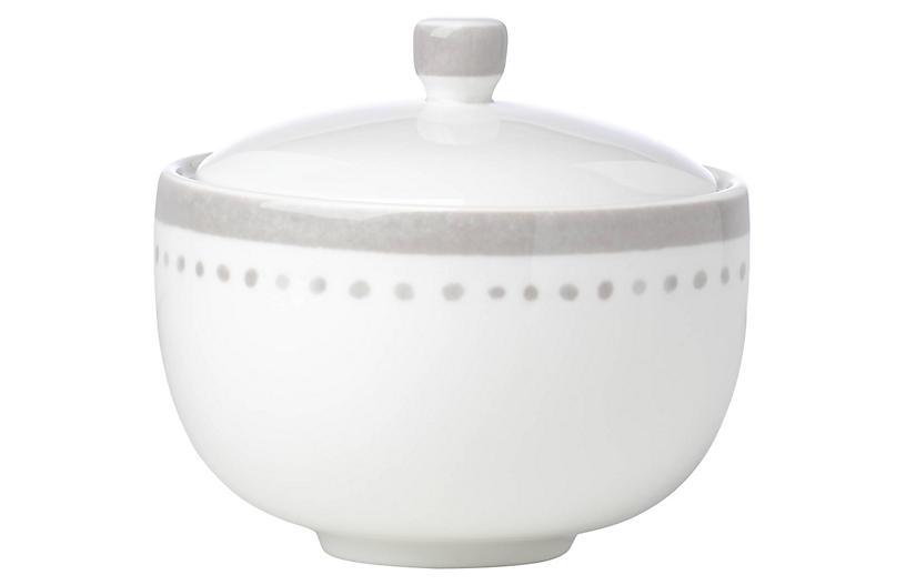 Charlotte Street Sugar Bowl, White/Gray