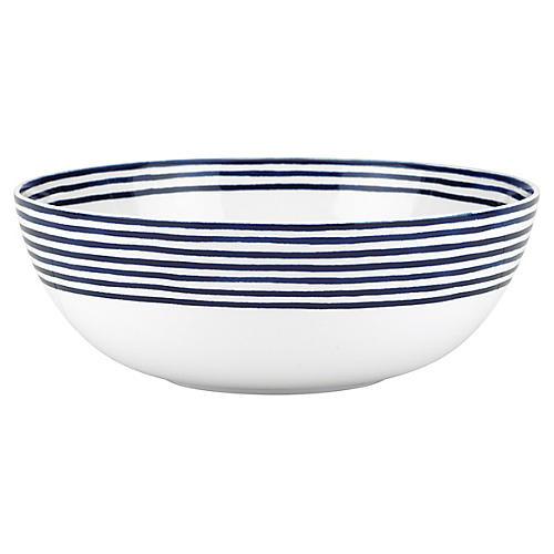 Charlotte Street Serving Bowl, White/Blue