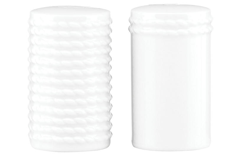 S/2 Wickford S & P Shakers, White