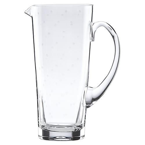 Larabee Dot Pitcher, Clear