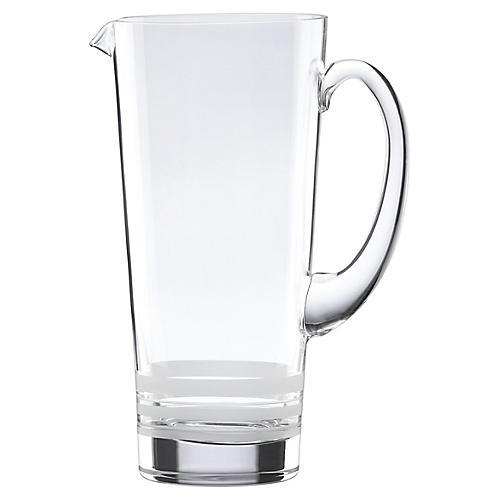 Library Stripe Pitcher, Clear