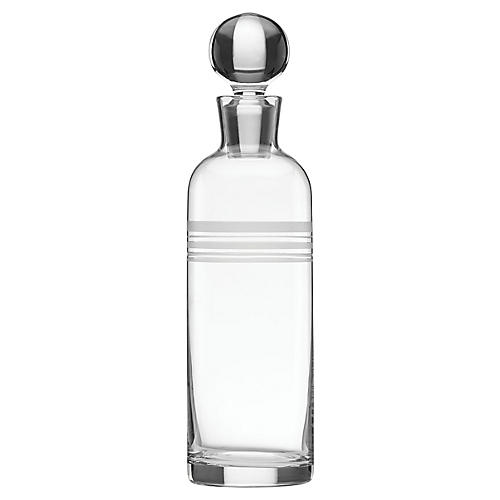 Library Stripe Decanter, Clear