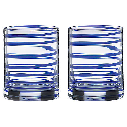 S/2 Charlotte Street DOF Glasses, Clear/Blue