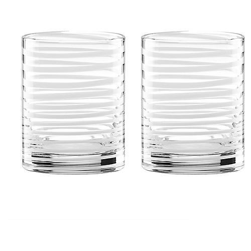 S/2 Charlotte Street DOF Glasses, Clear/White