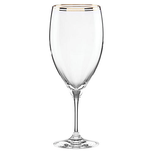 Orleans Square Glass, Clear/Gold
