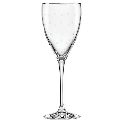 Larabee Dot Goblet, Clear/Platinum