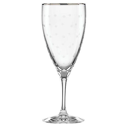 Larabee Dot Glass, Clear/Platinum