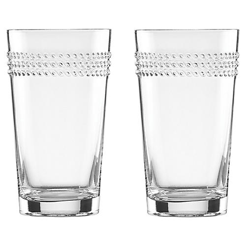 S/2 Wickford Highball Glasses, Clear
