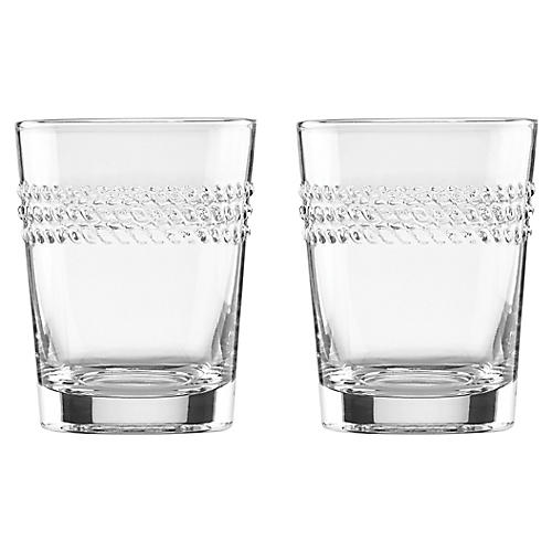 S/2 Wickford DOF Glasses, Clear