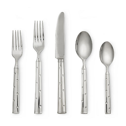 5-Pc Larabee Dot Place Setting, Silver