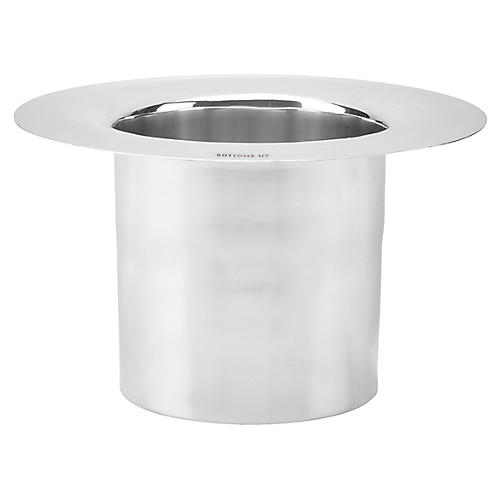 Two-of-a-Kind Bottoms Up Ice Bucket, Silver