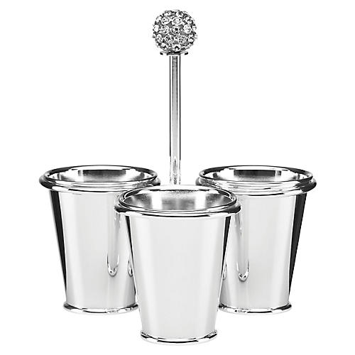 Two-of-a-Kind Condiment Serveware, Silver