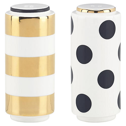 S/2 Fairmount Park Dots S & P Shakers, Multi