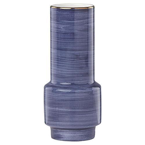 """5"""" Charles Lane Wide Bud Vase, Indigo"""