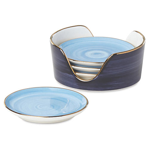 S/4 Charles Lane Coasters, Blue