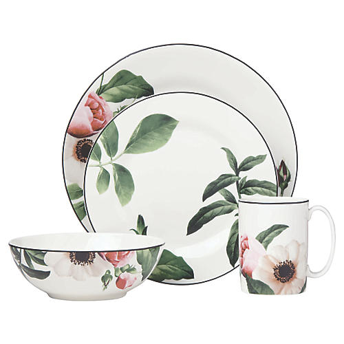 Bloom Street Place Setting, White/Multi