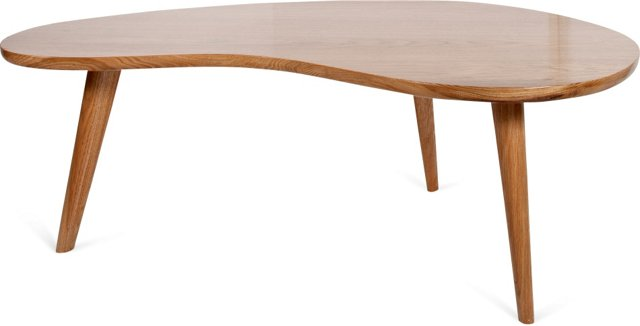 Kidney-Shaped Coffee Table