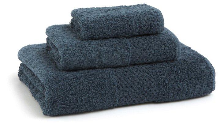 3-Pc Sublime Towel Set, Indigo