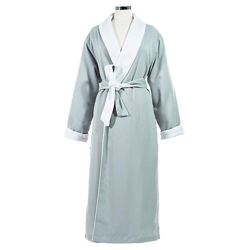Small/Medium Spa Bath Robe, Silver Sage