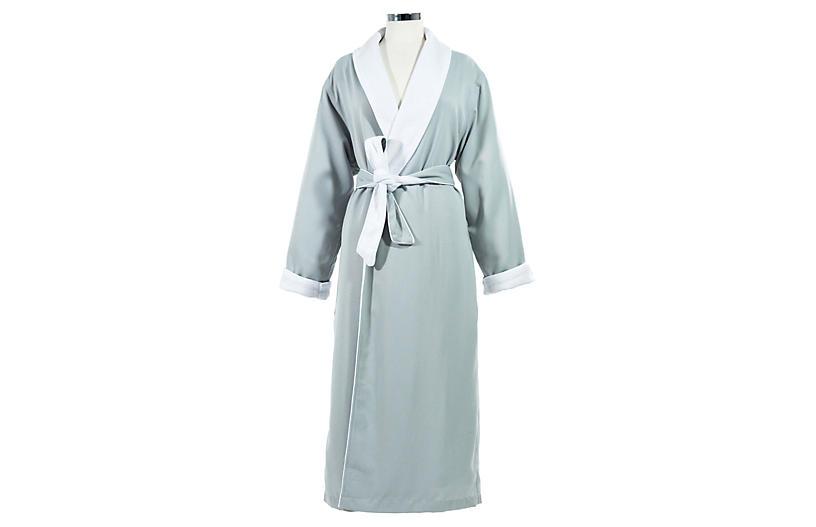 Small/Medium Spa Bath Robe, Silver Sage