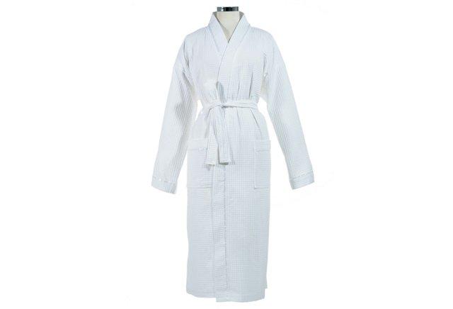 Kassanillo Kimono Bathrobe, White