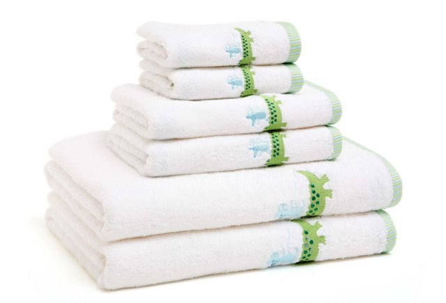 6-Pc Zoo Friends Embroidered Towel Set