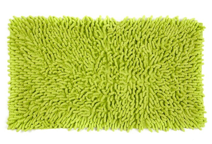 Shag Bath Rug, Green