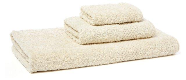 3-Pc Sublime Towel Set, Natural