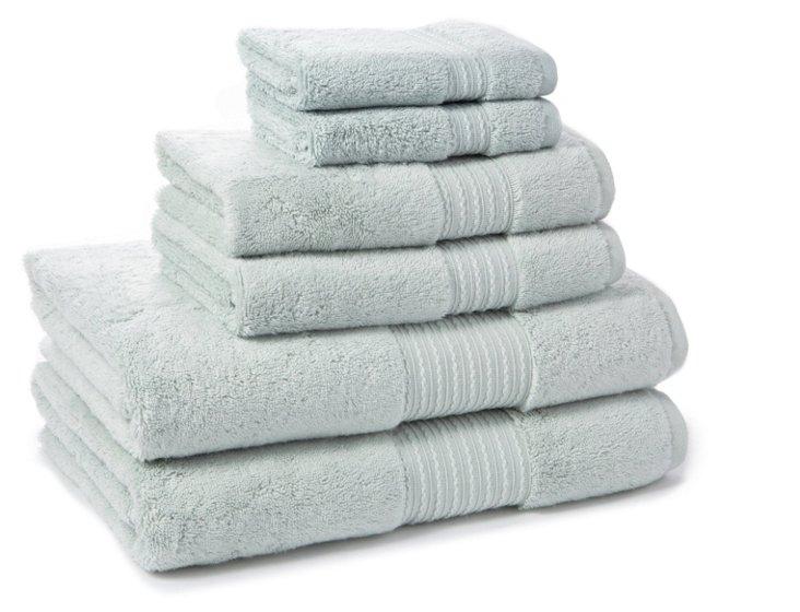 6-Pc Kassasoft Towel Set, Water