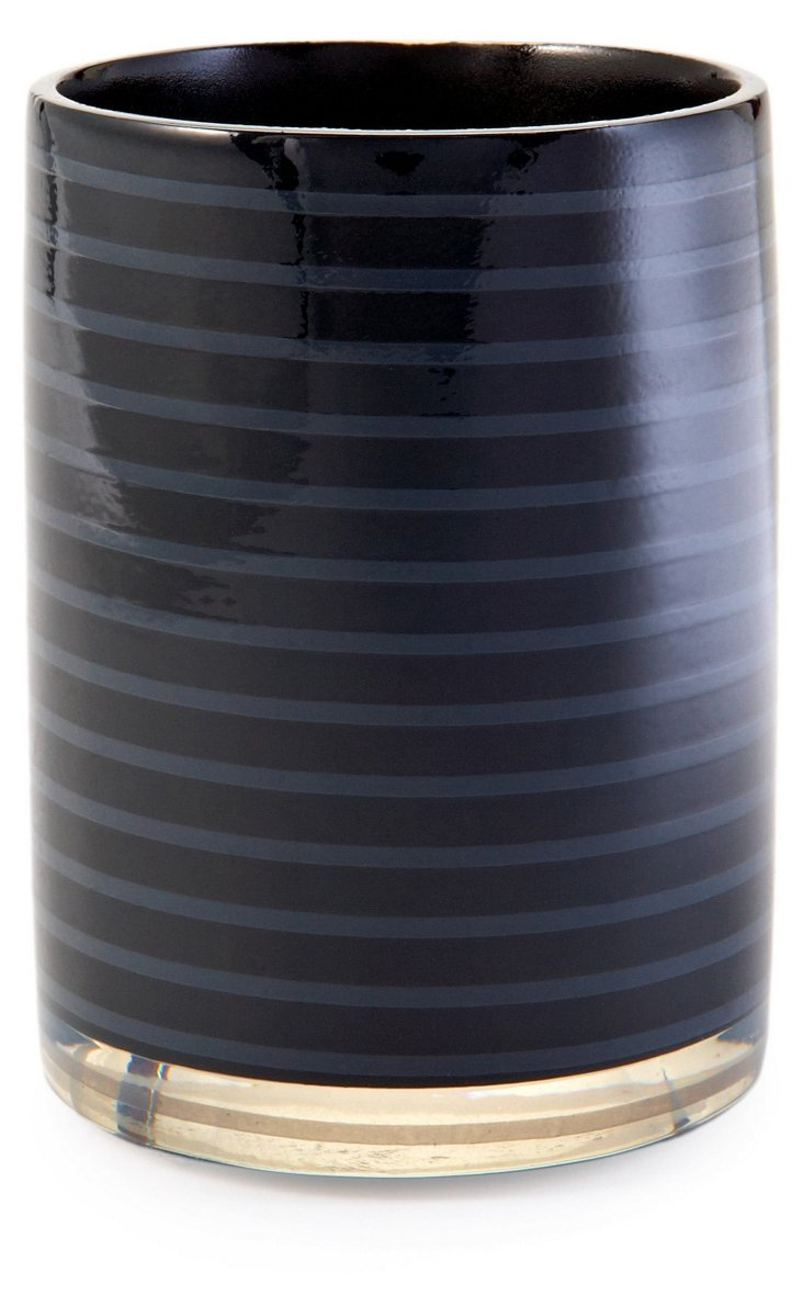 Mar-A-Lago Striped Tumbler, Black