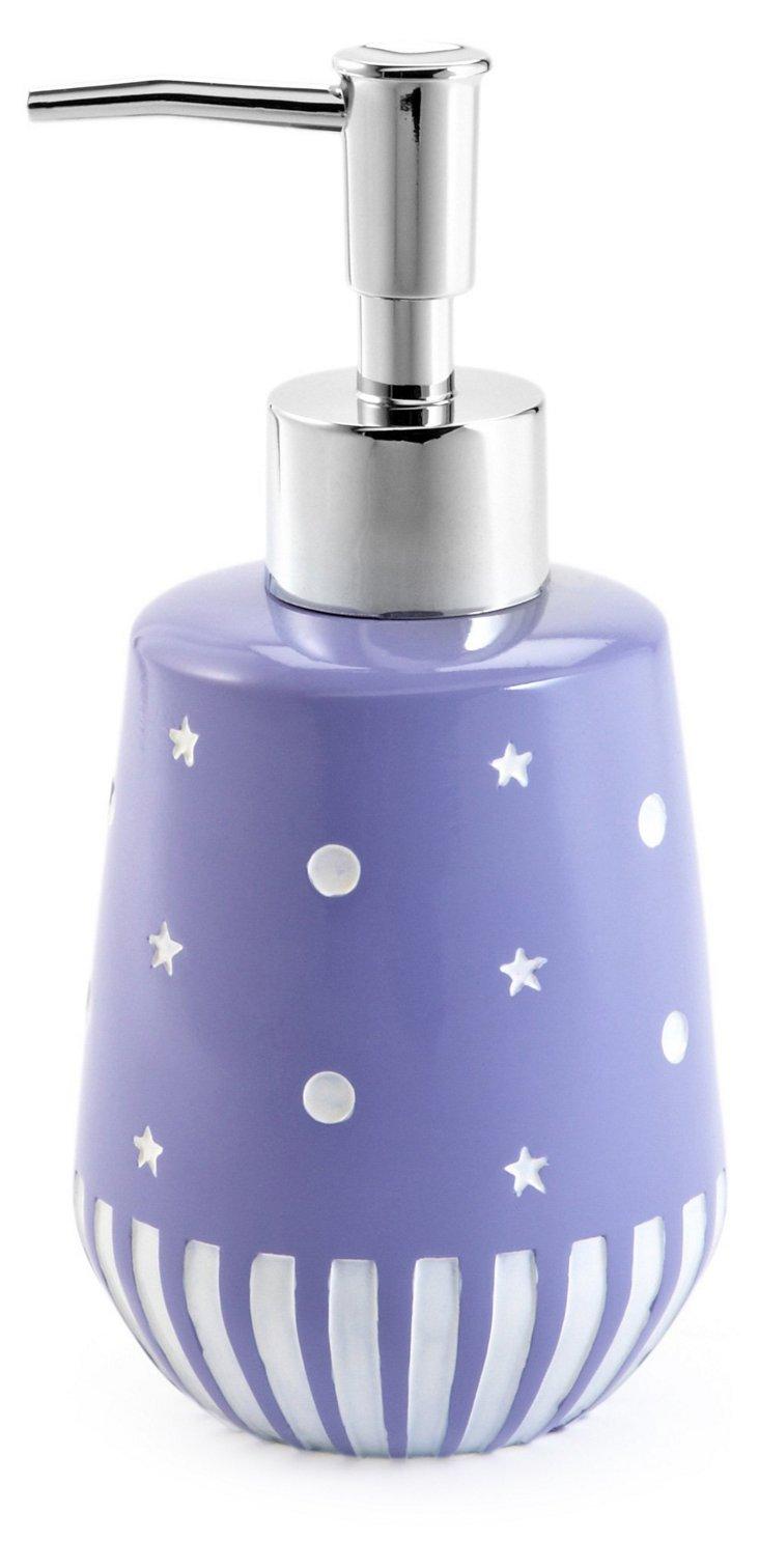 Stars &  Dots Dispenser, Purple