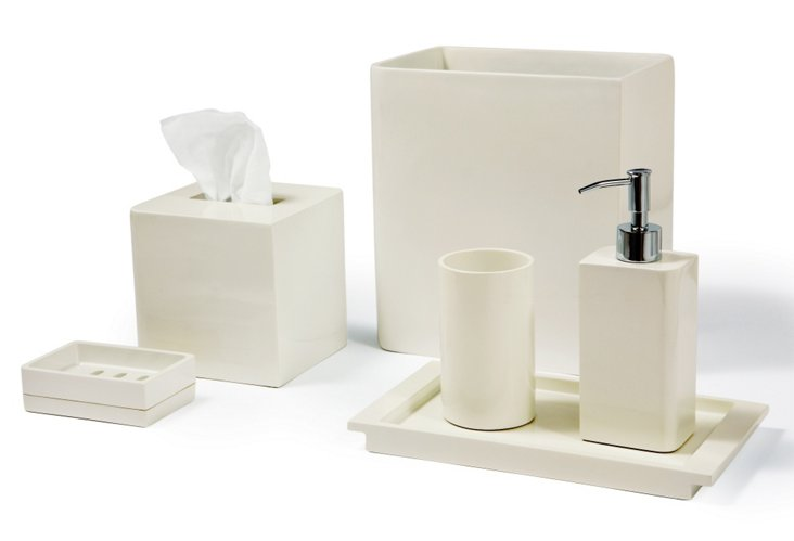 6-Pc Lacca Accessories Collection, Ivory