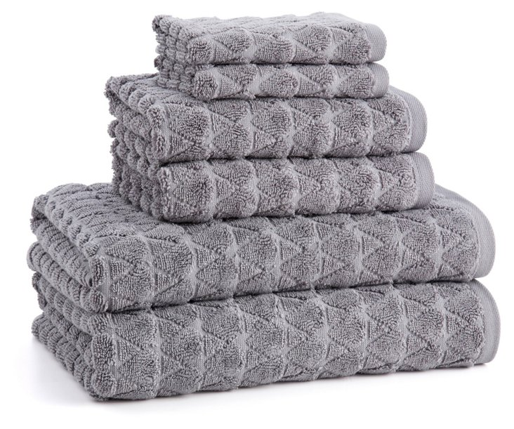6-Pc Bristol Towel Set, Anthracite
