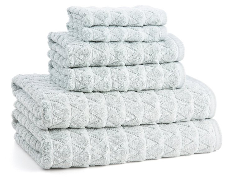 6-Pc Bristol Towel Set, Ocean