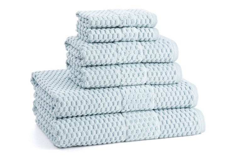 6-Pc San Marco Towel Set, Blue