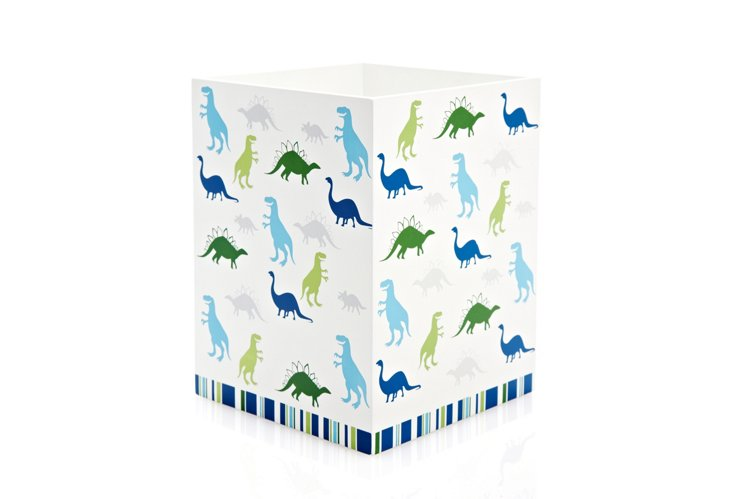 Dino Park Wastebasket, Blue/Green