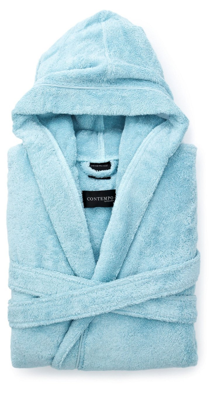 Turkish Luxury Bathrobe, Ice Blue