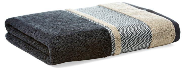 Savile Bath Towel, Carbon