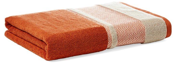 Savile Bath Towel, Terracotta