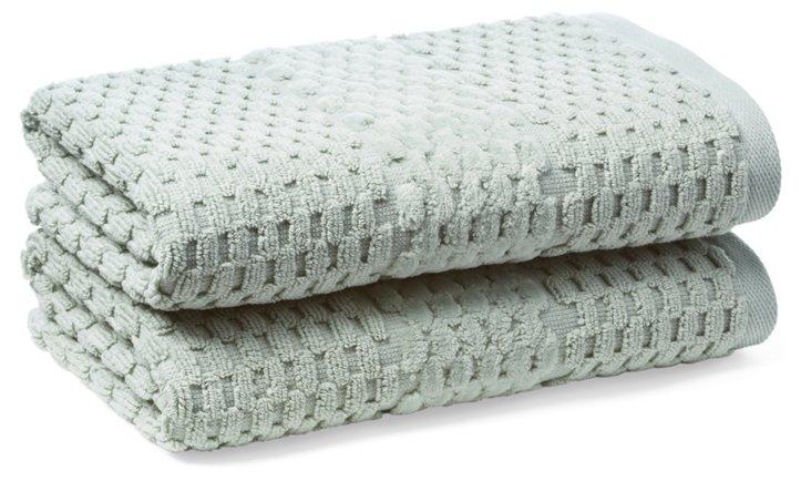 S/2 San Marco Hand Towels, Fern
