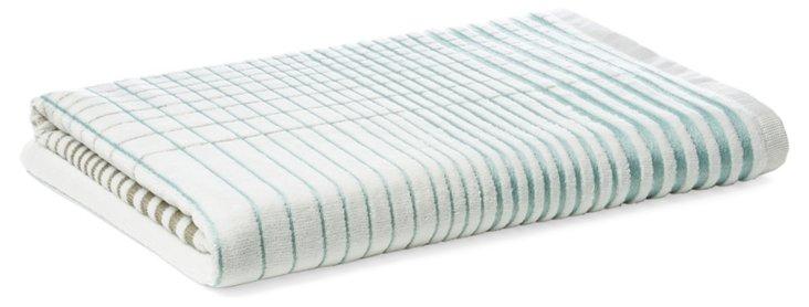 Crosby Bath Towel, Surf Blue